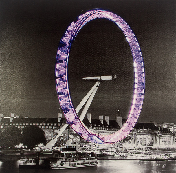 Tela Impressa London Eye C/ Ledflash Fullway  - Arrivo Mobile