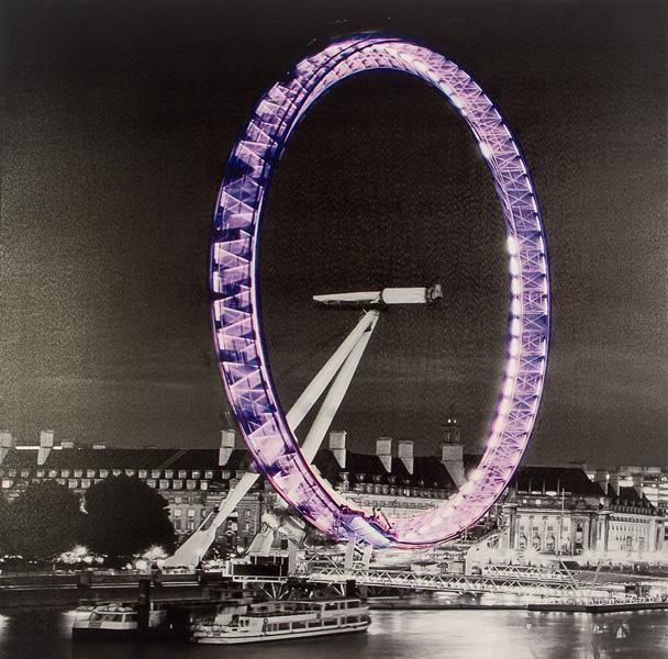 Tela Impressa London Eye C/ Ledflash Fullway  -  Arrivo Mobile