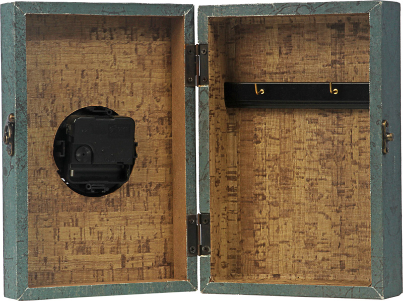 Book Porta Chave Parede Azul Relogio Oldway  -  Arrivo Mobile