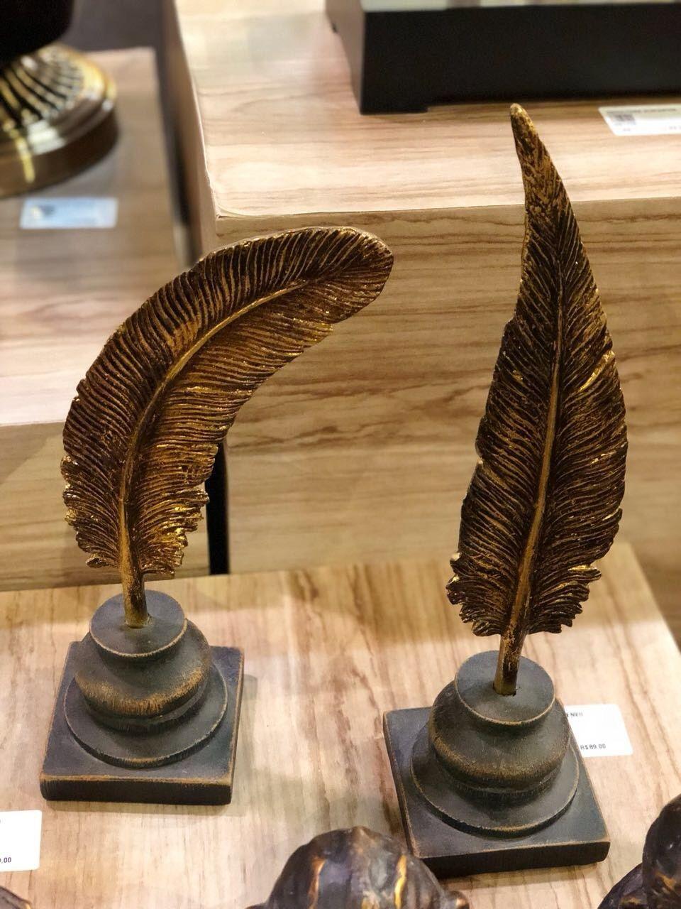 Adorno Escultura De Pena Em Resina 32 X 8 X 8  - Arrivo Mobile