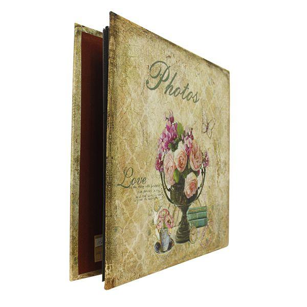 Álbum De Fotos Vaso De Flores Seda 34x35x4cm 288 Fotos  - Arrivo Mobile