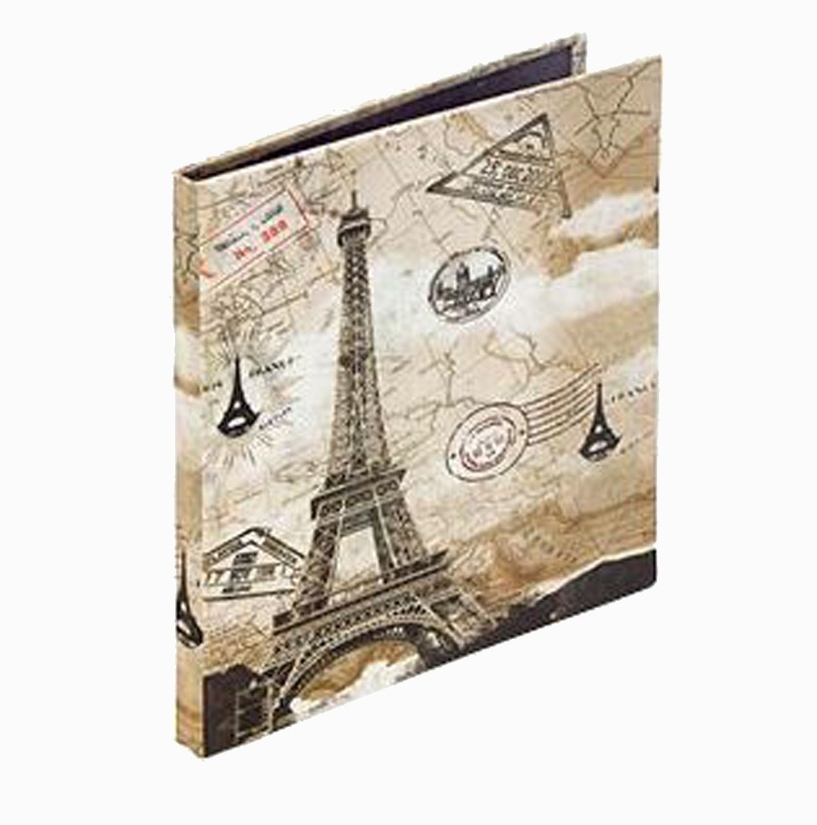 Álbum Fotos Eiffel Com Carimbos Seda Oldway 25x24x2m  - Arrivo Mobile
