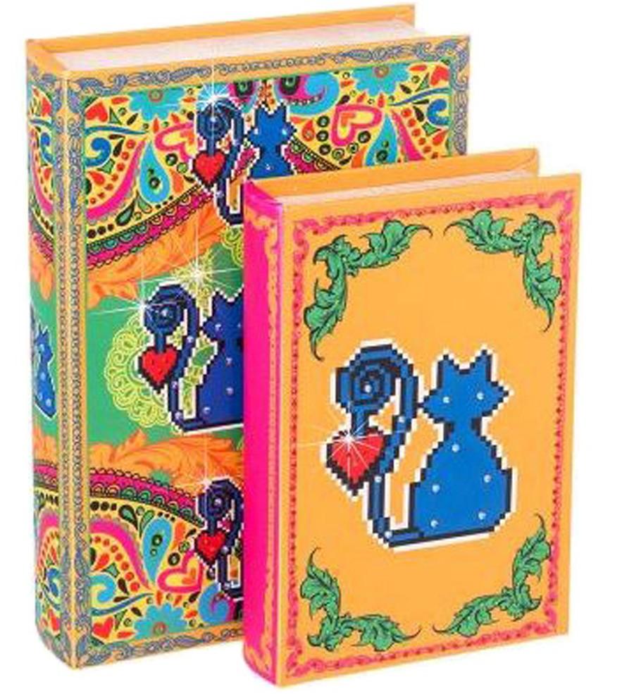 Amor De Pixel - Livro Caixa Gato Conjunto C/2 30x20x6cm  - Arrivo Mobile