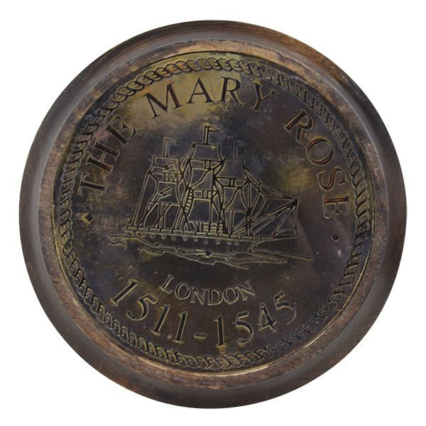 Ampulheta De Madeira E Bronze  - Arrivo Mobile
