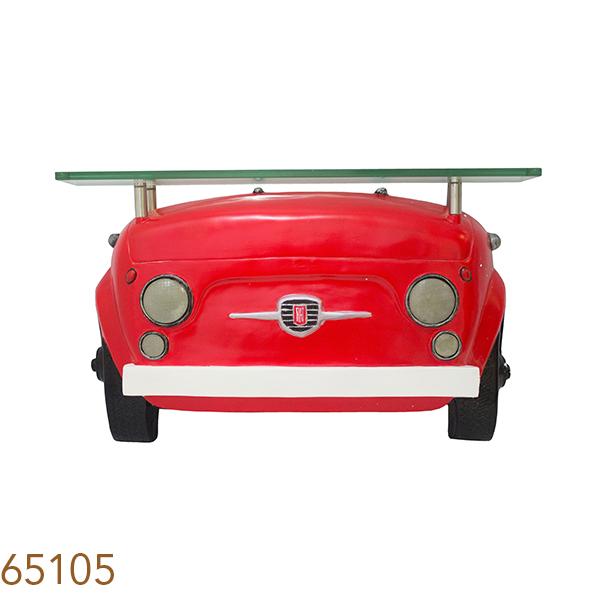 Aparador De Parede Frente De Carro Fiat 500 Vermelho Oldway  - Arrivo Mobile
