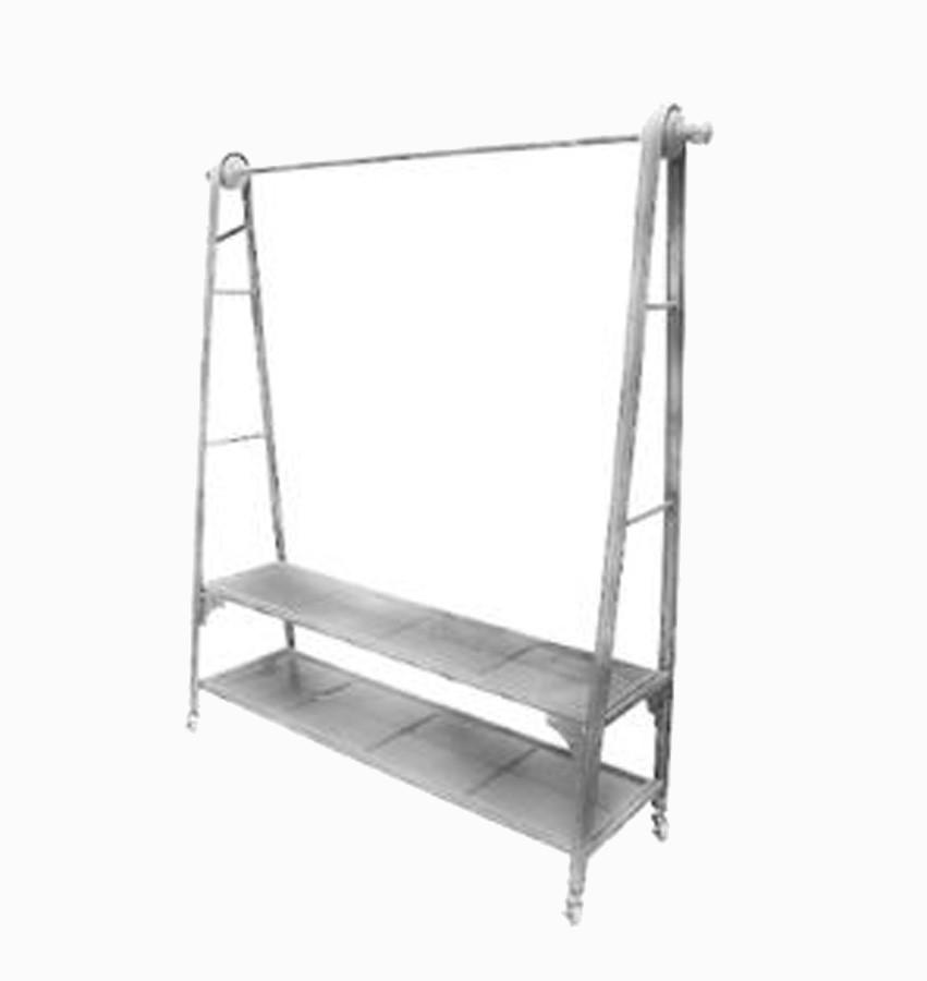 Arara Metal C/ Prateleiras Galvanizado  - Arrivo Mobile