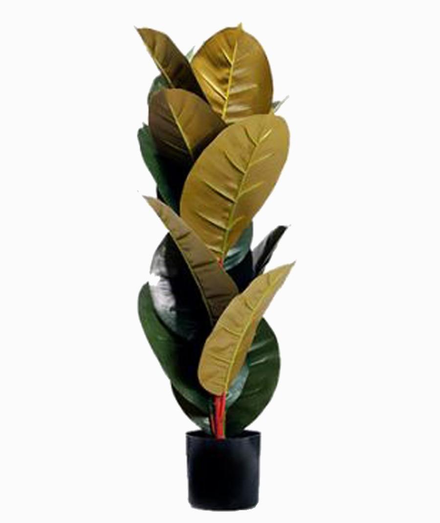 Árvore Artificial Pvc Com Vaso Preto 80cm  - Arrivo Mobile