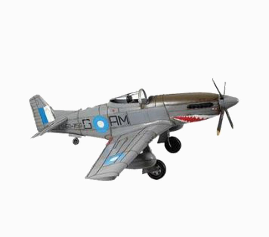 Avião Guerra Cinza Em Metal Oldway 42x116x103cm  - Arrivo Mobile