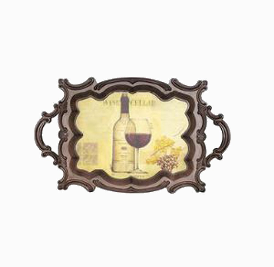 Bandeja Madeira/Pvc Classic Wine Oldway 72x44x4cm  - Arrivo Mobile