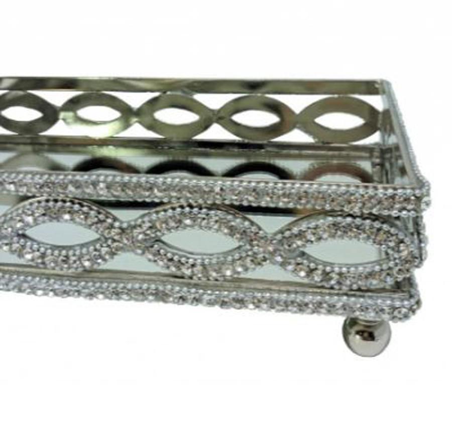 Bandeja Retangular Alumínio 28,5x15,5x7,62cm  - Arrivo Mobile