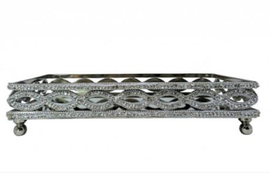 Bandeja Retangular Alumínio 33,5x20x7,62CM  - Arrivo Mobile