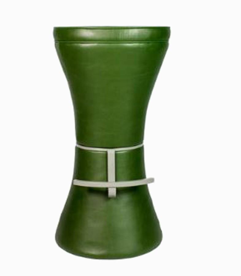 Banqueta Torre Pu Verde G 80x43x43cm  - Arrivo Mobile