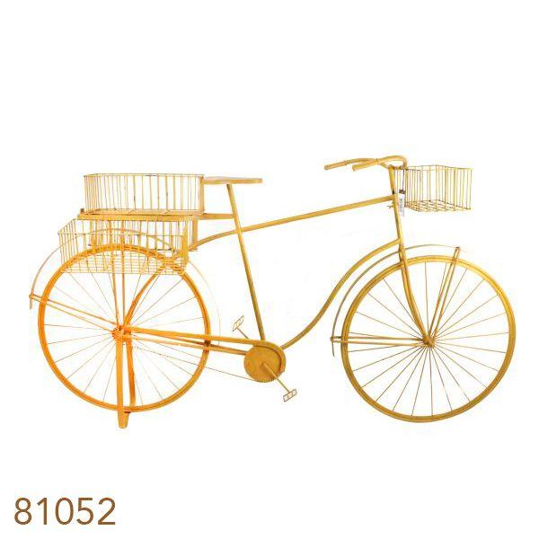Bicicleta Amarela Decorativa Metal Oldway 101x184x57cm  - Arrivo Mobile
