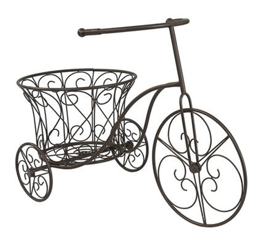 Bicicleta Garden Marrom Em Ferro 44x32x63cm  - Arrivo Mobile