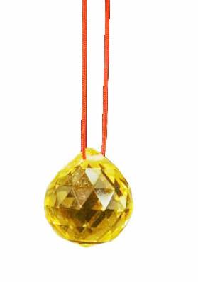 Bola De Cristal Amarela 30mm Feng Shui Imp  - Arrivo Mobile