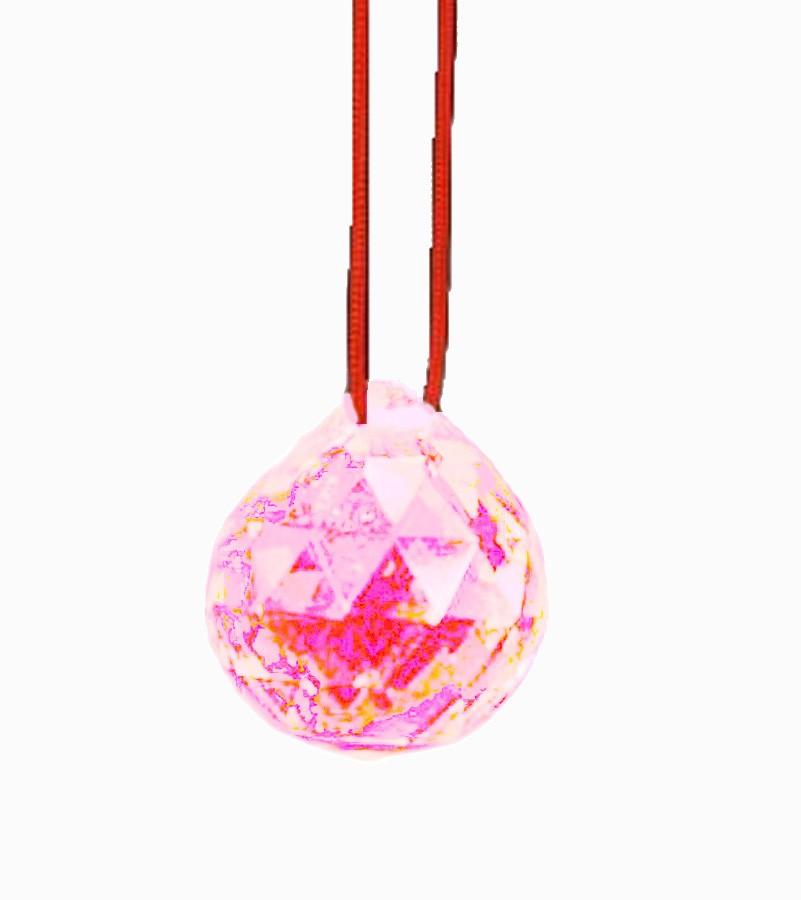 Bola De Cristal Rosa 40mm Feng Shui Imp  - Arrivo Mobile