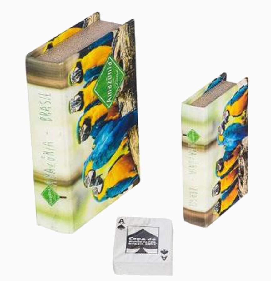 Book Box Cj 2 Pc Araras Azul Amazônia  - Arrivo Mobile