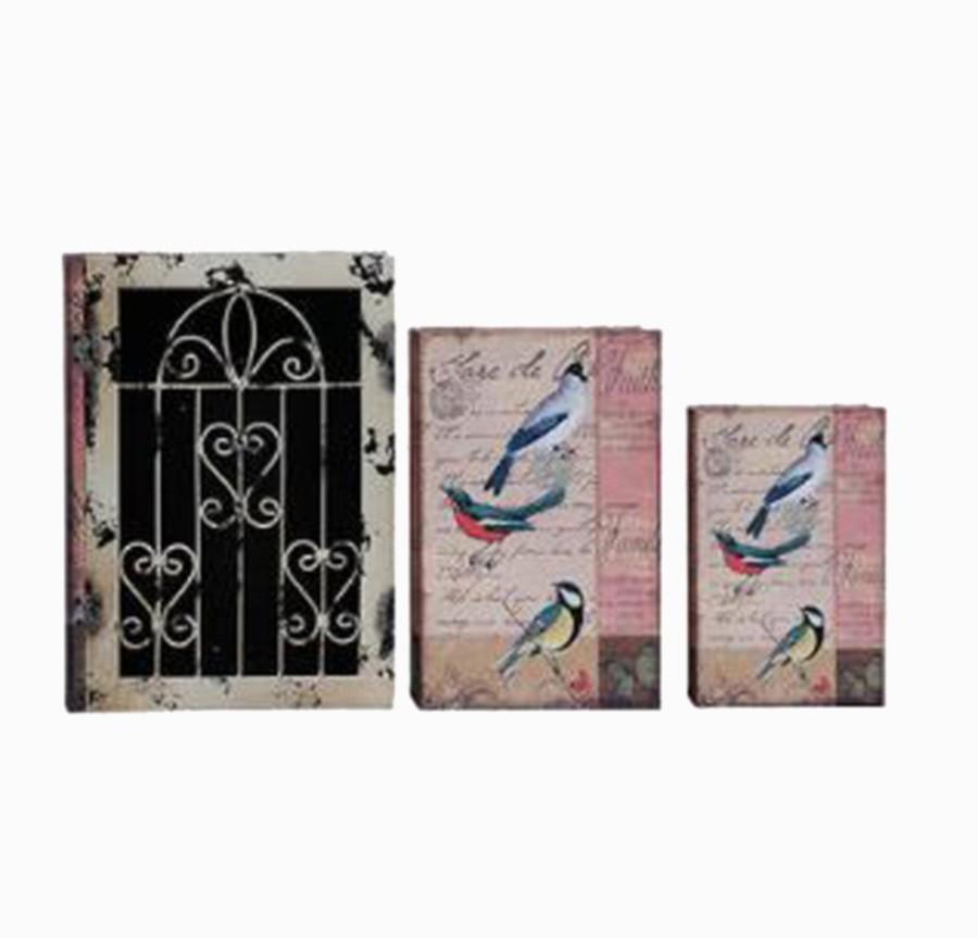 Book Box Cj 3pc C Grade Iron Pássaros  - Arrivo Mobile