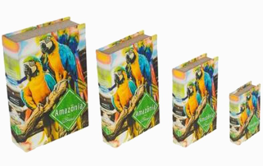Book Box Cj 4 Pc Araras Amazonas  - Arrivo Mobile