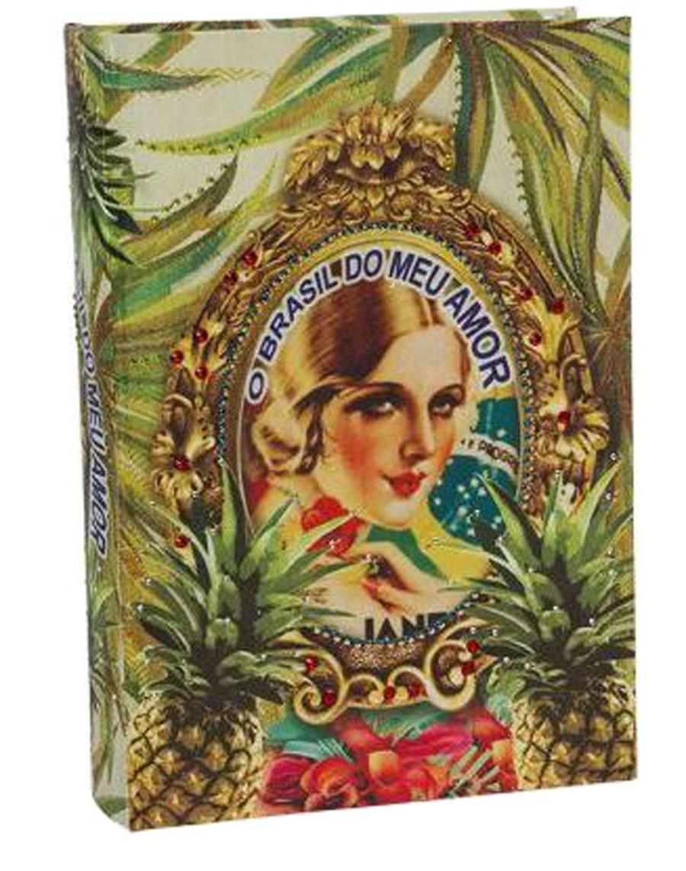 Brasil Chic - Livro Caixa Abacaxi 30x21x7cm  - Arrivo Mobile