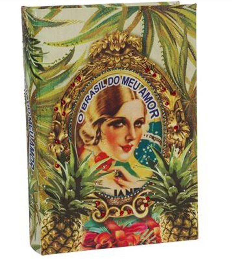 Brasil Chic -Livro Caixa Book Box Abacaxi  - Arrivo Mobile