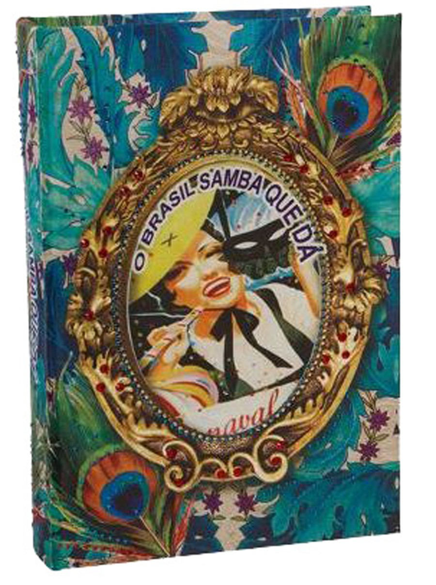 Brasil Chic - Livro Caixa Pavão 30x21x7cm  - Arrivo Mobile