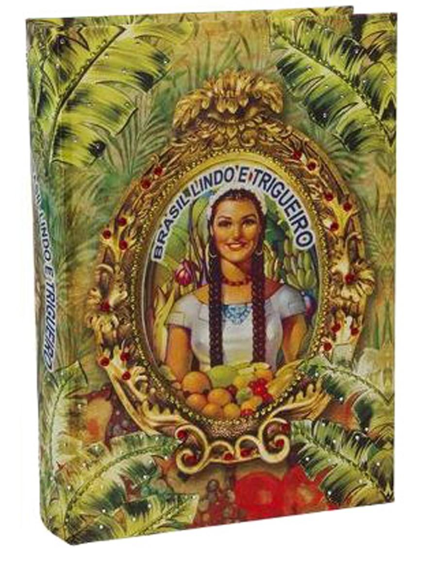 Brasil Chic - Livro Caixa Trigueiro 30x21x7cm  - Arrivo Mobile