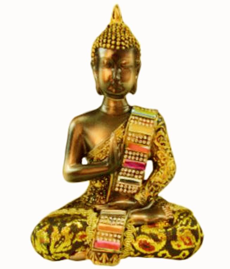 Estatua Imagem de Buda Com Tecido A Importado  - Arrivo Mobile