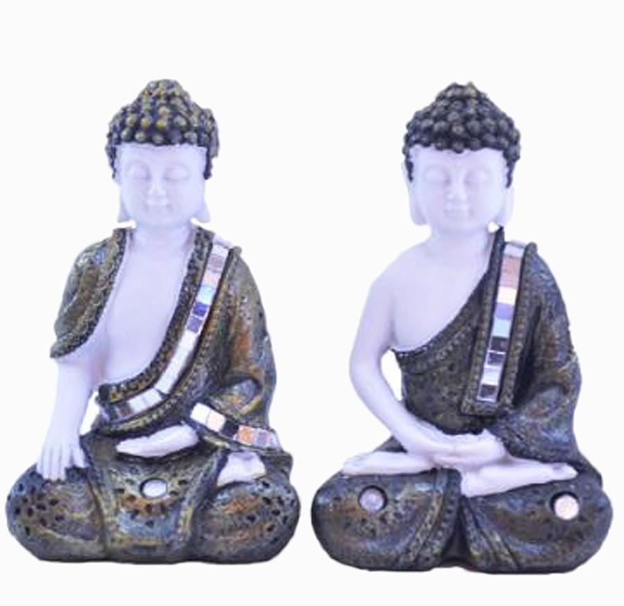 Estatua Imagem de Buda De Resina C/ 2 Importado  - Arrivo Mobile