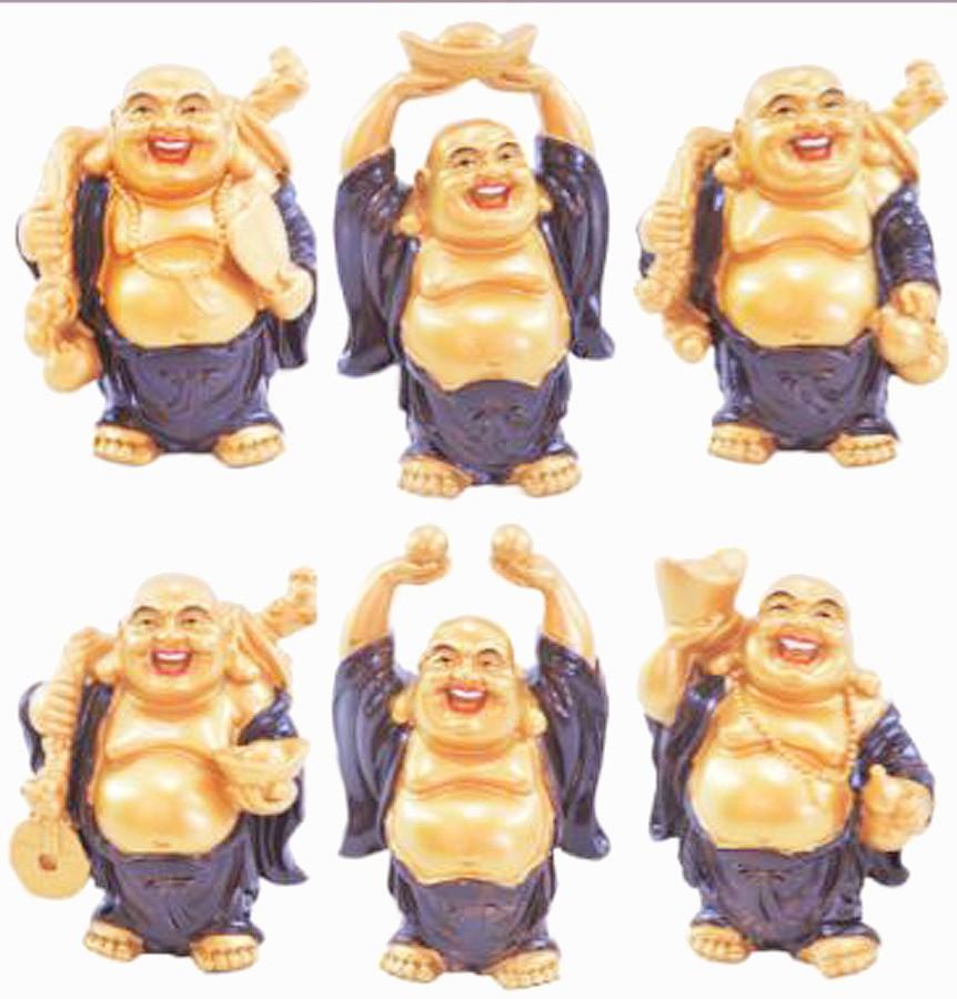 Estatua Imagem de Buda Dourado C/ 6 Importado  - Arrivo Mobile