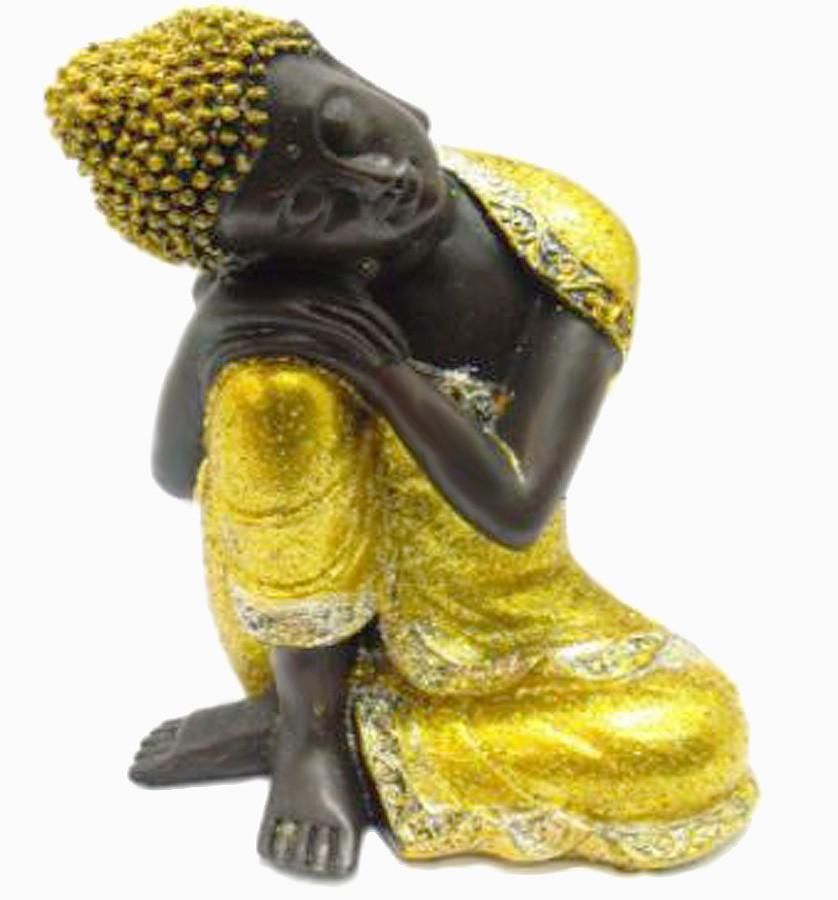 Estatua Imagem de Buda Dourado De Resina Importado  - Arrivo Mobile