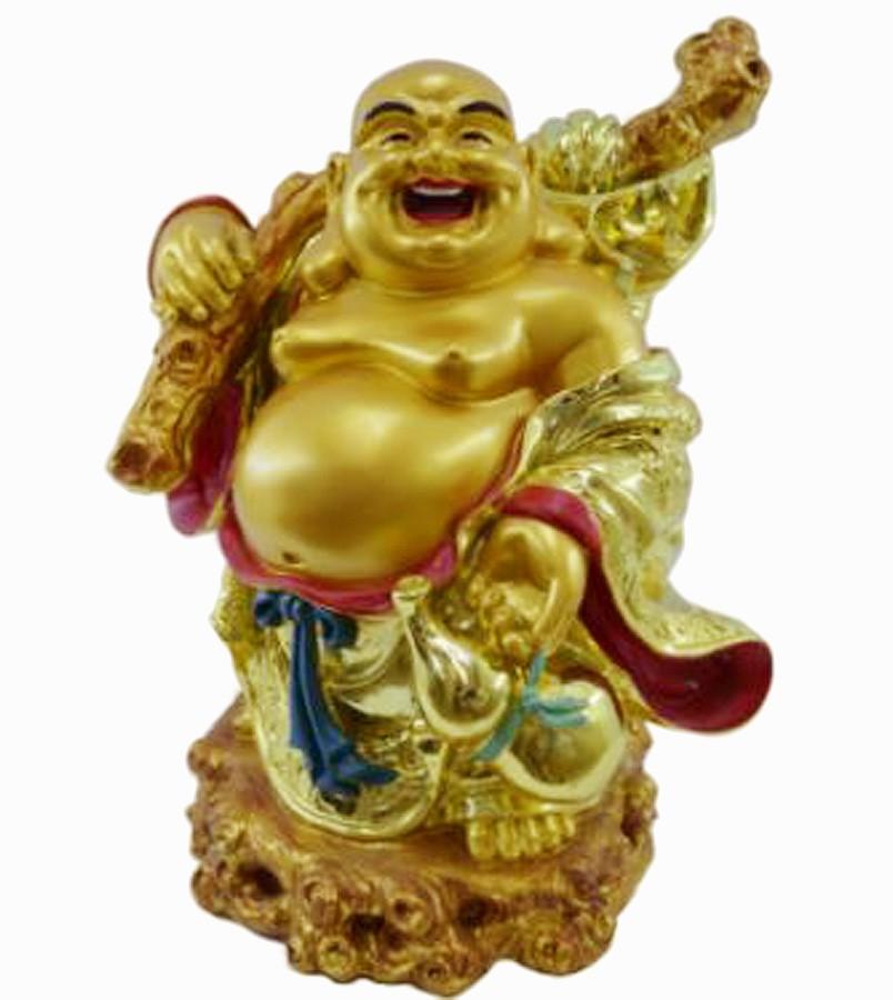 Estatua Imagem de Buda Dourado Gordo Gg Importado  - Arrivo Mobile