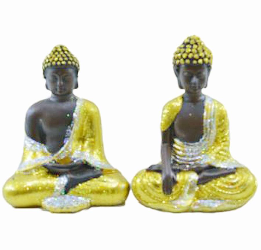 Estatua Imagem de Buda Dourado P Com 2 Importado  - Arrivo Mobile