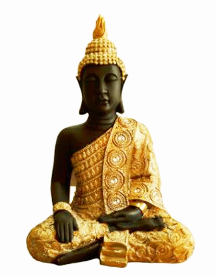 Estatua Imagem de Buda Eg Dourado Com Preto Importado  - Arrivo Mobile