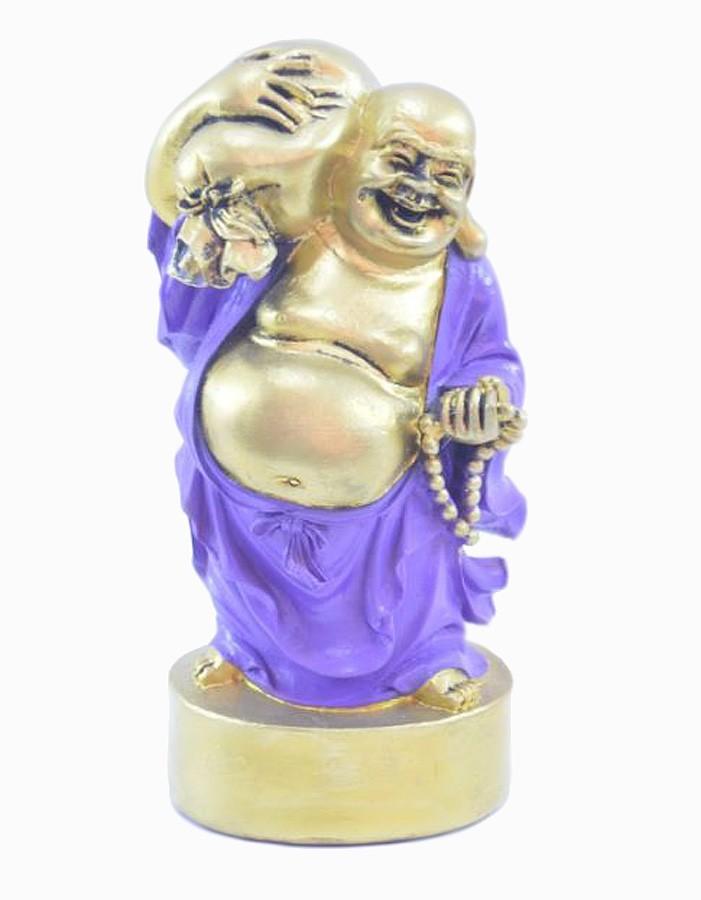 Estatua Imagem de Buda Em Pé Roxo Com Saco  - Arrivo Mobile