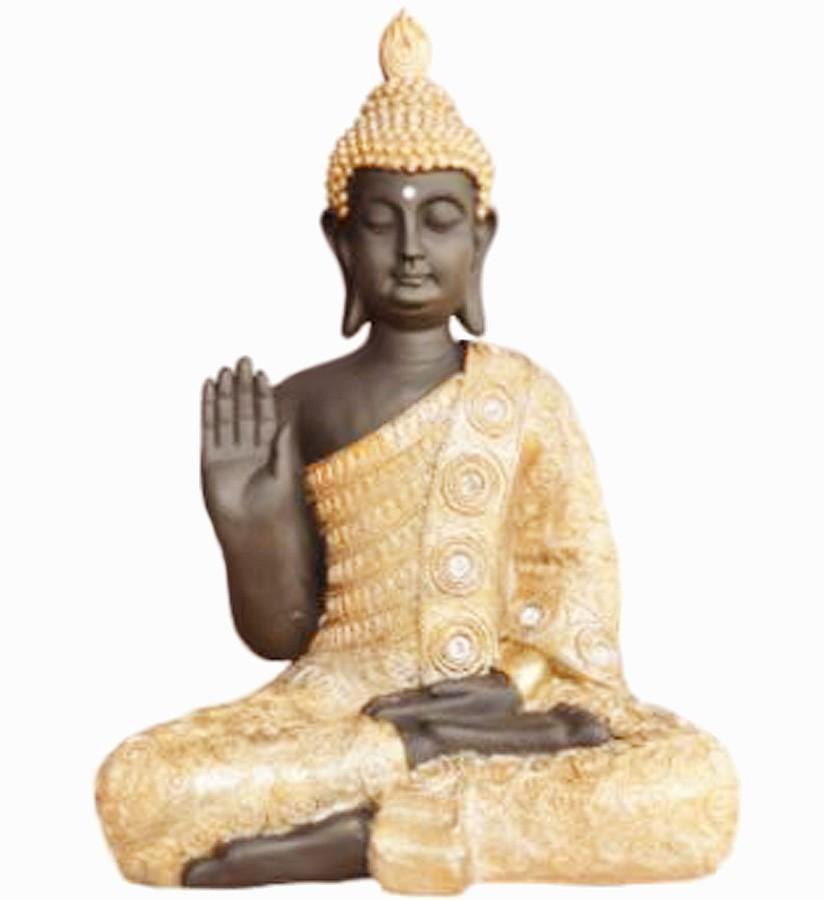 Estatua Imagem de Buda G Dourado Com Preto Importado  - Arrivo Mobile