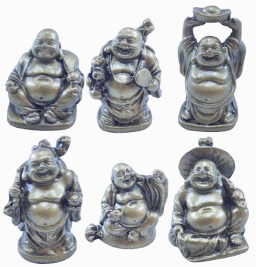 Estatua Imagem de Buda Mini C/ 6 Importado  - Arrivo Mobile