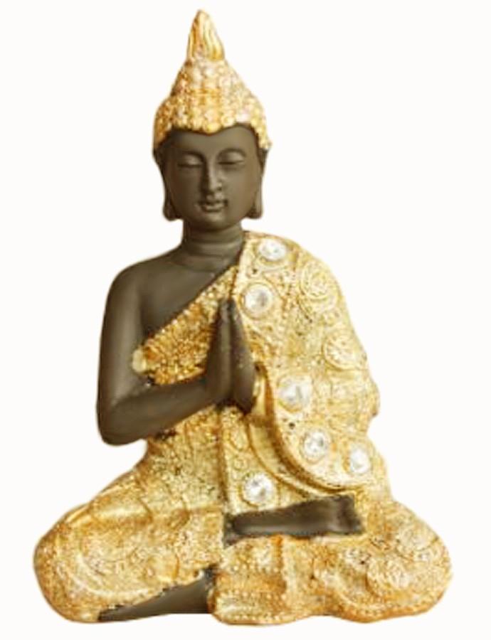Estatua Imagem de Buda P Dourado Com Preto Importado  - Arrivo Mobile