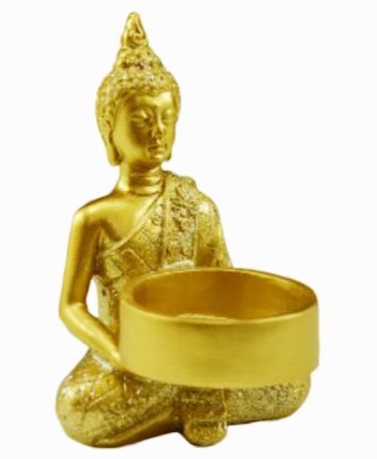 Estatua Imagem de Buda Porta Vela Redondo Importado  - Arrivo Mobile