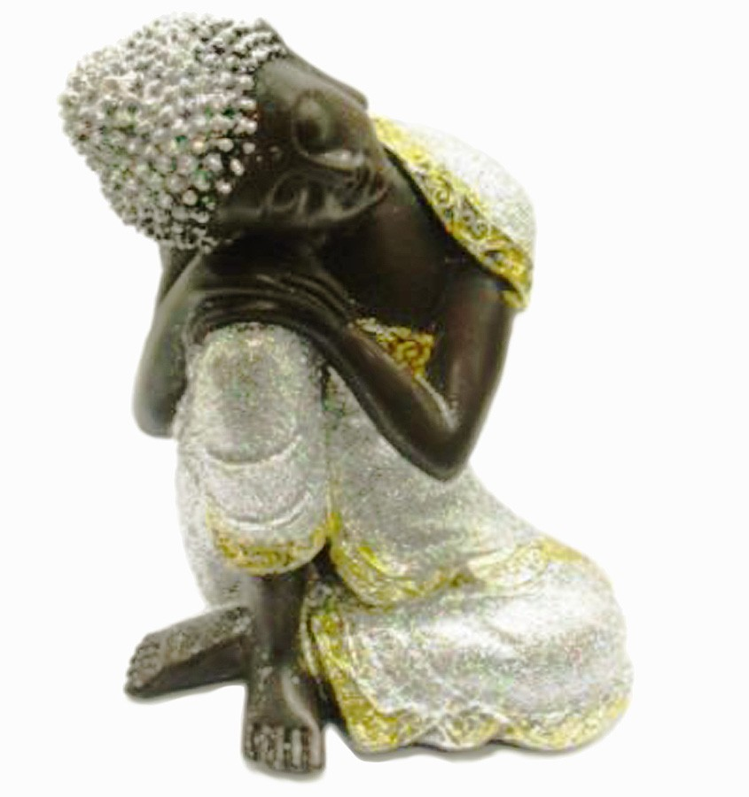 Estatua Imagem de Buda Prata De Resina Importado  - Arrivo Mobile