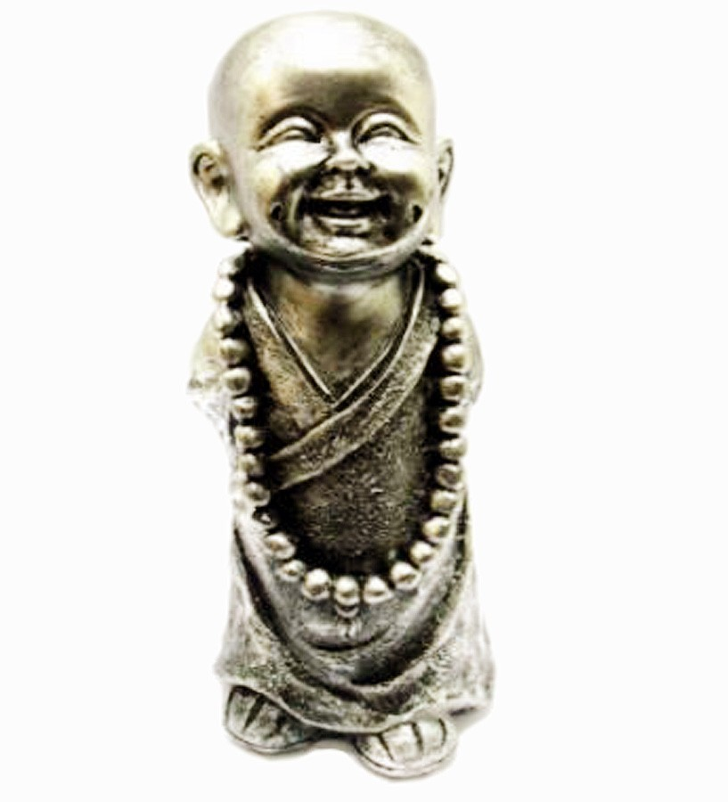 Estatua Imagem de Buda Prata Em Pé Com Colar Importado  - Arrivo Mobile