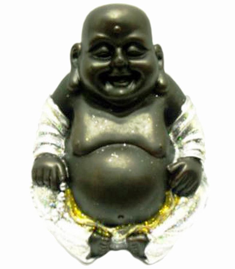 Estatua Imagem de Buda Prata Gordo G Importado  - Arrivo Mobile