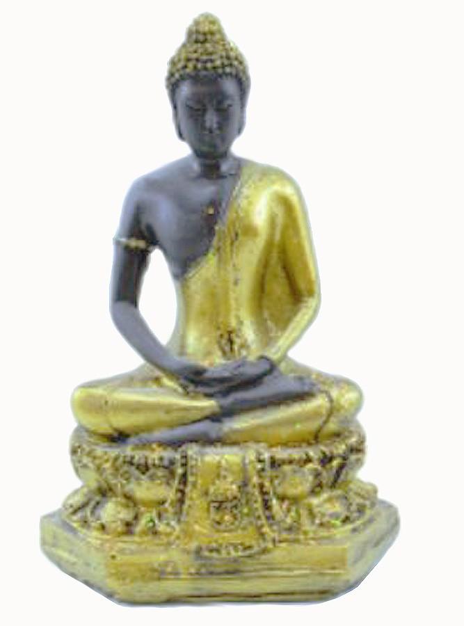 Estatua Imagem de Buda Tibetano Dourado De Resina Importado  - Arrivo Mobile