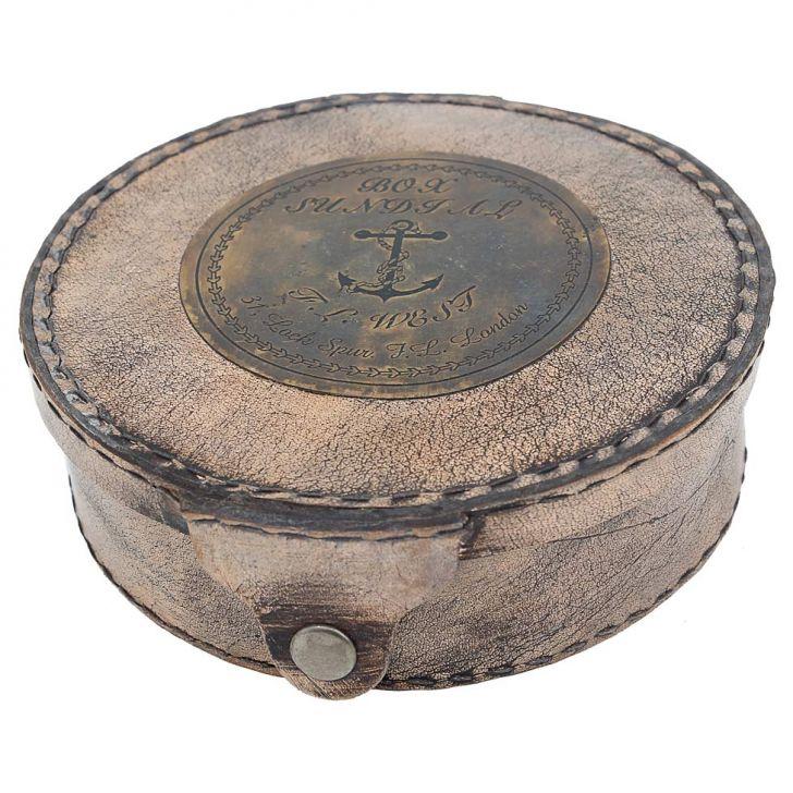 Bússola Antique Madeira E Vidro  - Arrivo Mobile
