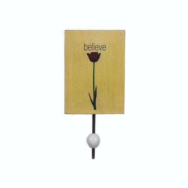Cabideiro Em Metal E Madeira Flor Believe  - Arrivo Mobile