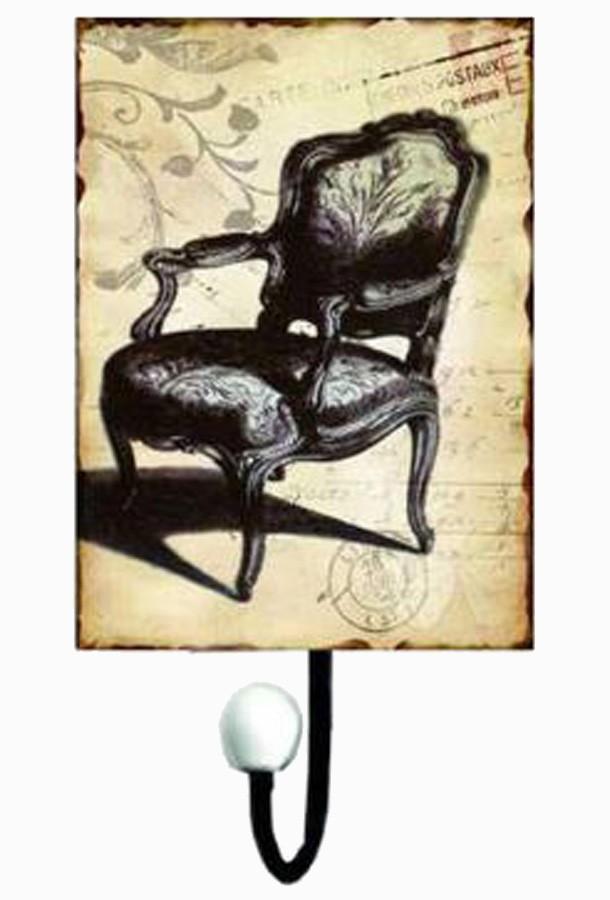 Cabideiro Metal 1 Gancho Chair 25x13x7cm  - Arrivo Mobile