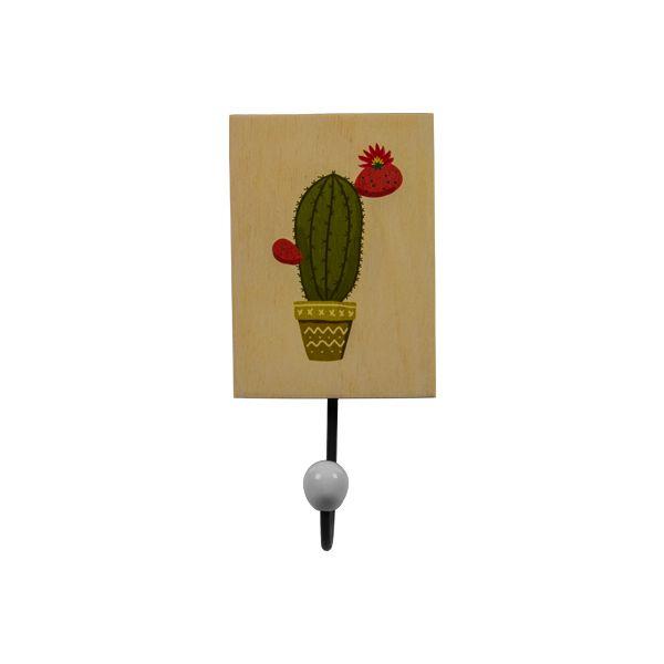 Cabideiro Vaso de Cactus em madeira e metal  - Arrivo Mobile