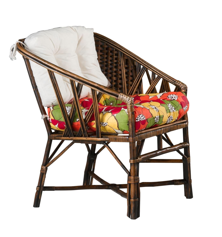 Cadeira Baixa Rattan Vime Natural  - Arrivo Mobile