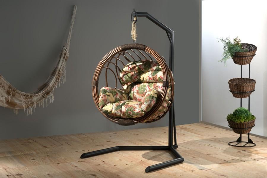 Cadeira Balanço Globo Suspensa Em Fibra Natural  - Arrivo Mobile