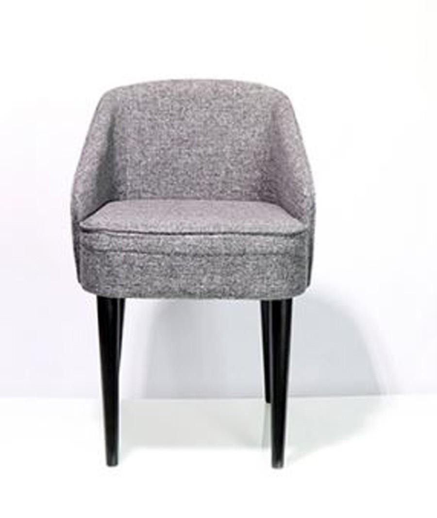 Cadeira Curva Linho Marmorizado 80x49x57cm  - Arrivo Mobile